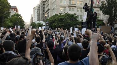 Des manifestants à Washington, le 2 juin 2020, dans un rassemblement après la mort de George Floyd aux mains de la police.