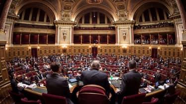 L'hémicycle du Sénat à Paris le 17 novembre 2016