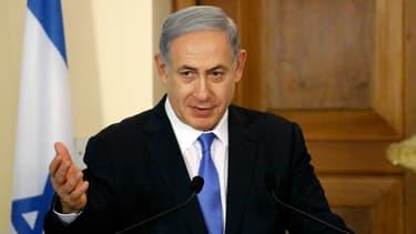Benjamin Netanyahu s'exprime lors d'une conférence de presse (illustration)