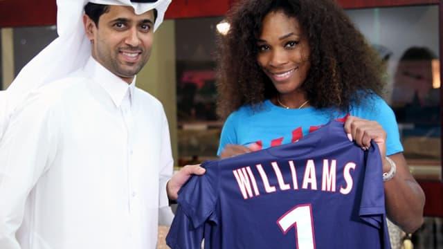 Nasser Al-Khelaïfi et Serena Williams