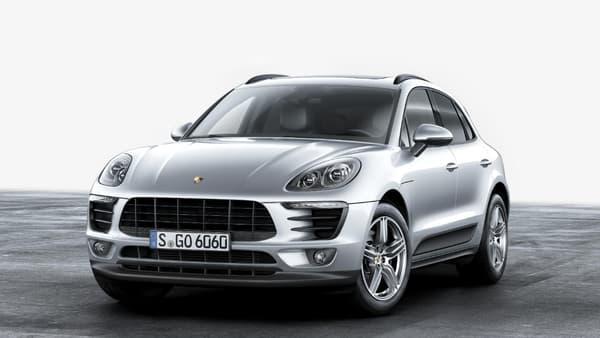 Le Porsche Macan équipé d'une motorisation quatre-cylindres sera disponible à la commande à partir de juin.