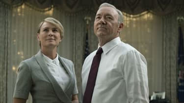 "Kevin Spacey et Robin Wright dans la série ""House of Cards"""