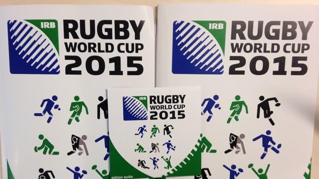 HandiCapZéro et la Rugby World Cup ont édité un guide de la Coupe du monde 2015 à destination des aveugles et mal voyants