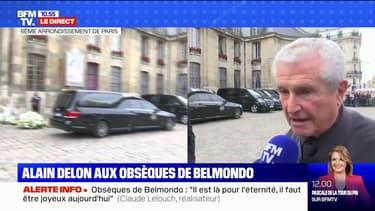 """Obsèques de Belmondo: pour Claude Lelouch, """"il est là pour l'éternité, il faut être joyeux aujourd'hui"""""""