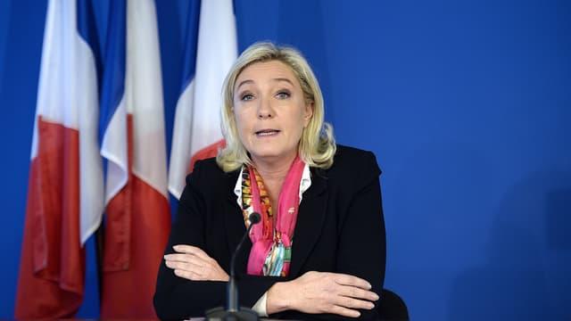 Marine Le Pen le 17 décembre 2013 à Nanterre.