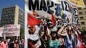Des dizaines de milliers de personnes ont défilé mardi dans le sud de l'Europe (comme ici à Athènes) pour protester contre les mesures d'austérité à l'occasion du 1er-Mai, qui a pris cette année un tour particulier à quelques jours des échéances électoral