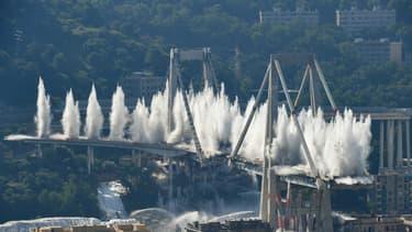 Le pont Morandi à Gênes a été détruit ce vendredi.