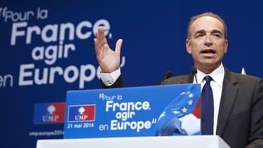 Jean-François Copé lors d'un meeting pour les élections européennes à Paris, le 21 mai 2014.
