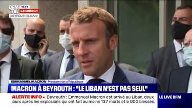 """Emmanuel Macron: """"Si ces réformes ne sont pas faites, le Liban continuera de s'enfoncer"""""""