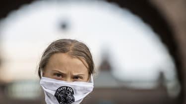 La militant suédoise Greta Thunberg à Stockholm le 25 septembre 2020.