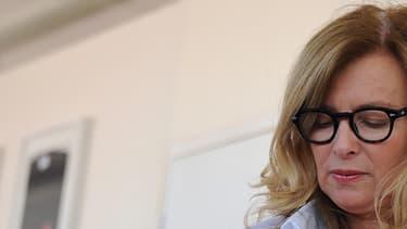 Valérie Trierweiler à La Rochelle le 6 juillet 2016, à l'occasion de la Solitaire du Figaro.