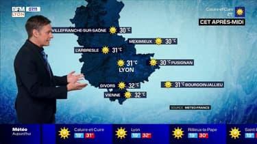 Météo: la situation s'améliore dans la métropole lyonnaise, jusqu'à 31°C cet après-midi