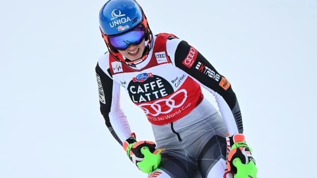 La Slovaque Petra Vlhova victorieuse du slalom de Lenzerheide, en Suisse, le 20 mars 2021
