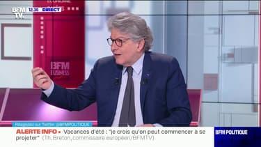 """Thierry Breton: """"On est le continent qui a le plus de vaccins au monde qui fonctionnent"""""""
