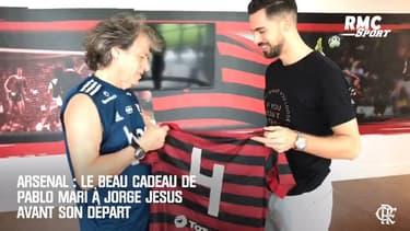 Arsenal : Le beau cadeau de départ de Pablo Mari pour son entraîneur à Flamengo, Jorge Jesus