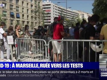 Coronavirus: à Marseille, les files d'attente s'allongent pour se faire tester