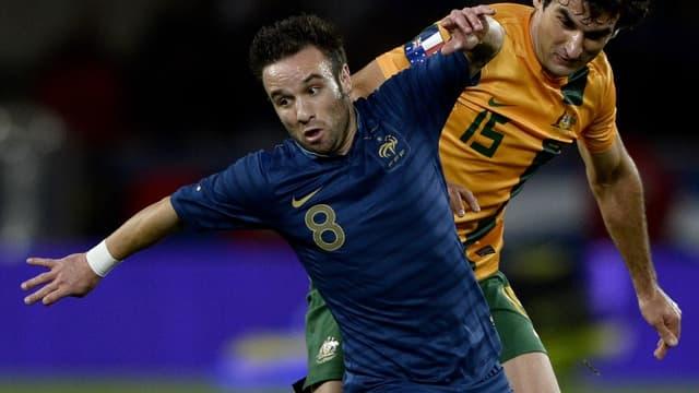 Mathieu Valbuena face à l'Australie