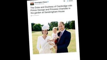 Kate Middleton, le prince William, le prince George et la princesse Charlotte.