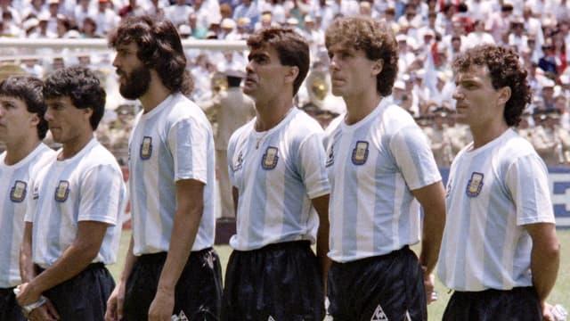 José Luis Brown (au centre) avec l'Argentine