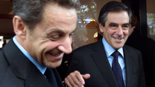 Nicolas Sarkozy et François Fillon, le 12 septembre dernier après un déjeuner commun.