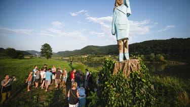 La statue avait été érigée en juillet 2019 à Sevnica, la ville natale de la First Lady.