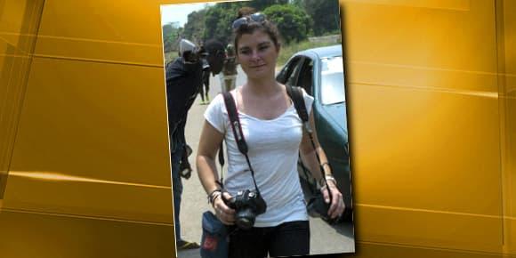 Camille Lepage le 21 février dernier à Damara, en Centrafrique, à 70 km au nord de Bangui.