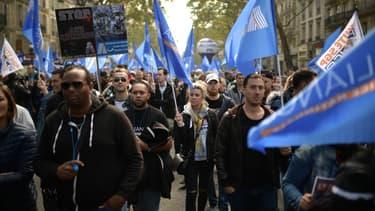 Marche de la colère des policiers à Paris, le 2 octobre 2019