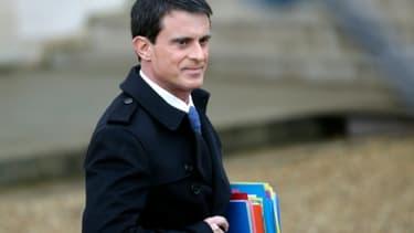 Le Premier ministre français Manuel Valls à l'Elysée à Paris, le 27 janvier 2016