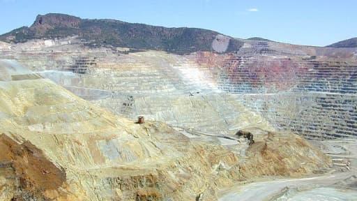 Une mine de cuivre à ciel ouvert à Silver City, aux Etats-Unis.