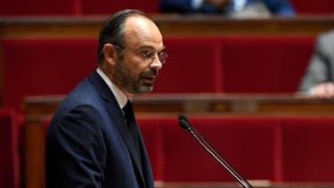 Le Premier ministre Edouard Philippe débattant sur l'immigration à l'Assemblée nationale, le 7 octobre 2018.