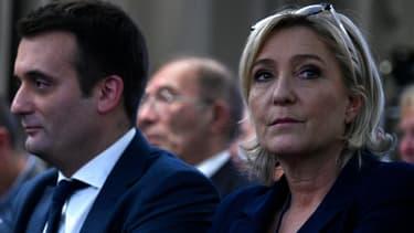 Marine Le Pen et Florian Philippot, le 9 décembre 2016, à Paris.