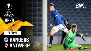 Résumé : Rangers (Q) 5-2 Antwerp - Ligue Europa 16e de finale retour