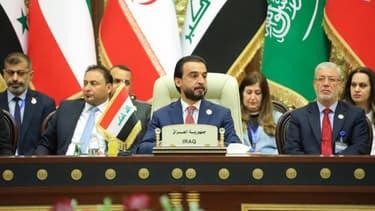Le chef du Parlement irakien Mohammed al-Halboussi à Bagdad, le 20 avril 2019