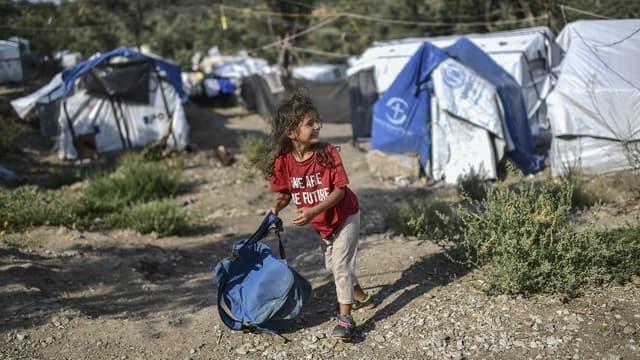 Le camp de Moria à Lesbos.