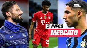 Giroud, Coman, Hakimi... Les 5 infos mercato du 16 juin à la mi-journée