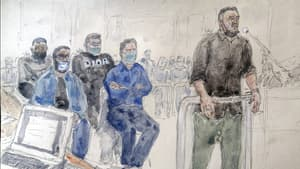 Mathieu Valbuena à la barre le 20 octobre 2021 lors de son procès contre Karim Benzema et quatre autres hommes pour tentative et complicité de chantage.
