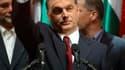 Viktor Orban, chef de file du parti de centre-droit Fidesz qui a remporté dimanche le second tour des législatives en Hongrie. Sa formation a obtenu la majorité des deux tiers dans le parlement hongrois, décisive pour modifier la Constitution. /Photo pris