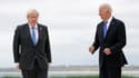 Boris Johnson et Joe Biden.