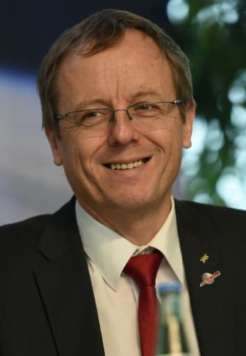 Le nouveau directeur général de l'ESA, Johann-Dietrich Woerner, à Cologne, dans l'ouest de l'Allemagne, le 13 novembre 2014