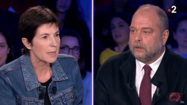 Christine Angot face à Eric Dupond-Moretti dans ONPC