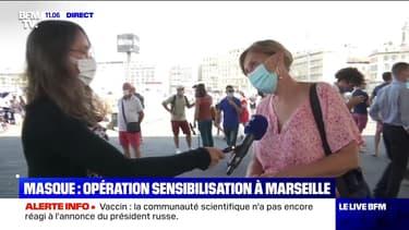 Masque : opération sensibilisation à Marseille - 11/08