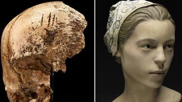 Le crâne et le visage de la jeune fille mangée par les colons de Jamestown, reconstitué par les scientifiques du Smithsonian  Institut.