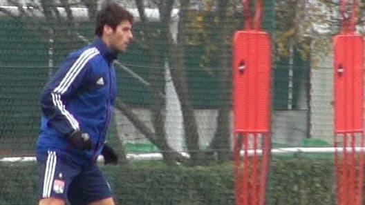 Yoann Gourcuff à l'entraînement.