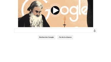 Dans son Doodle daté du 9 septembre, Google célèbre romancier russe Léon Tolstoï, né ce même jour en 1828.