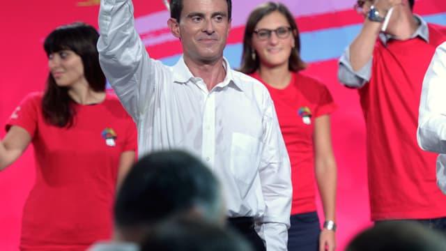 Manuel Valls est resté à la tribune pendant une heure.