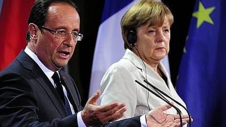 François Hollande et Angela Merkel