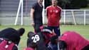 Le directeur général de Luzenac, Fabien Barthez, et l'entraîneur Christophe Pélissier