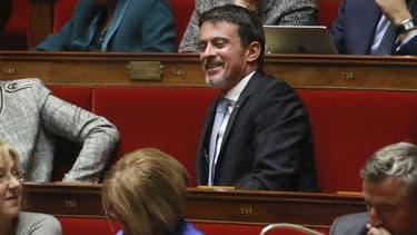 Manuel Valls sur les bancs de l'Assemblée nationale