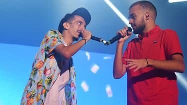 BigFlo et Oli sur scène en juillet 2018