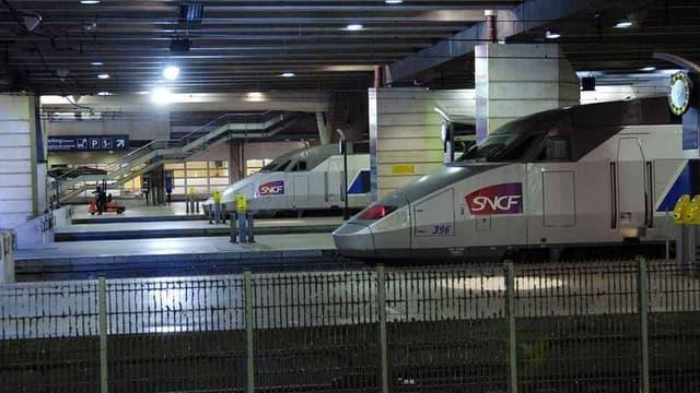 Des trains sont restés à quai vendredi 3 août à cause d'une interruption de trafic (photo d'illustration)